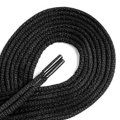 Black Strong 75cm Round Shoe Laces For Shoes / Boots