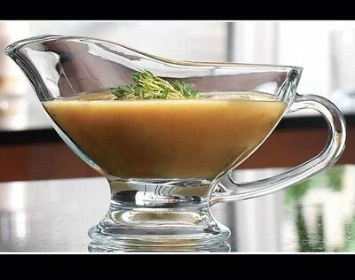 10-oz. Glass Gravy Boat Serving Dish Party Centerpiece Table Setter