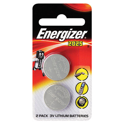 2 x Energizer CR2025 3V Lithium Knopfzelle Batterie 2025
