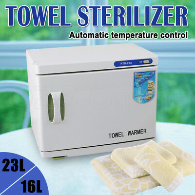 16L/23L UV Towel Sterilizer Warmer Cabinet Disinfection Heater Hot Hotel Salon