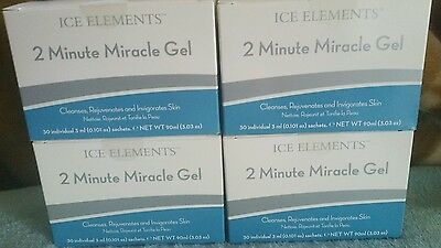 120 individual Ice Elements 2 Minute Miracle gel exfolianting cleanser free ship