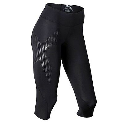 NEW - 2XU Women's Compression Mid Rise 3/4 Tights