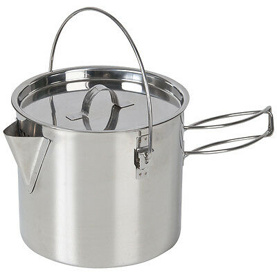 NEW - Campfire Stainless Steel Billy Style Kettle