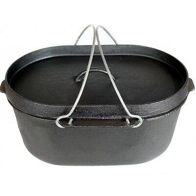 NEW - Spinifex 9 Quart Cast Iron Oval Dutch Oven