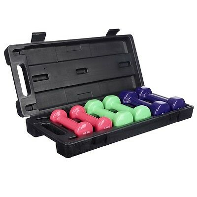 NEW - Opus Active 6 kg Vinyl Dumbbell Set