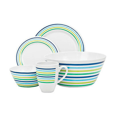 NEW - Campfire 24 Piece Melamine Set