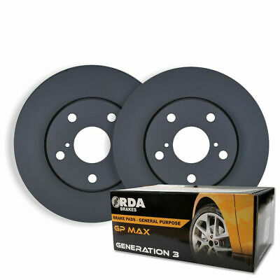 RDA FRONT DISC BRAKE ROTORS+ BRAKE PADS for Ford Falcon AU II III 3/2000-10/2002