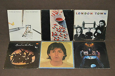 PAUL McCARTNEY & WINGS 6 LP RECORD ALBUMS LOT COLLECTION Band on the Run/II/Egg+