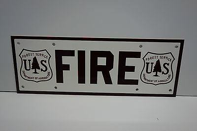 """Forest Service Fire Sign Enamel Coat 5"""" By 14"""""""