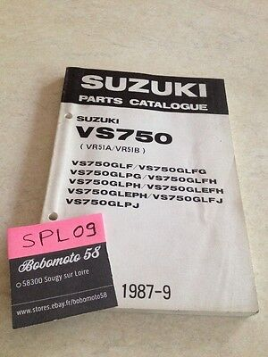 Suzuki Parts list VS750 Intruder VS 750 catalogue liste pièce détachée VR51 A B