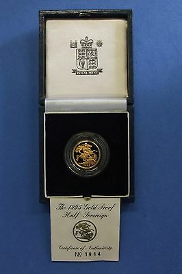1995 Proof Gold Half Sovereign coin in Case with COA   (T7/2)