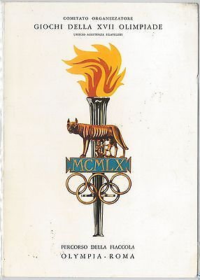 55501 -  ITALY -  STAMPS on SPECIAL FOLDER: 1960 GAMES OLYMPIC  Flame journey