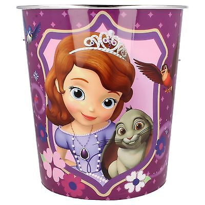Girls Sofia Princess Dark Pink Purple Plastic Home Bedroom Homeware Bin 290505