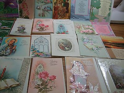 lot 25 unused vintage birthday get well greeting cards religious communion more