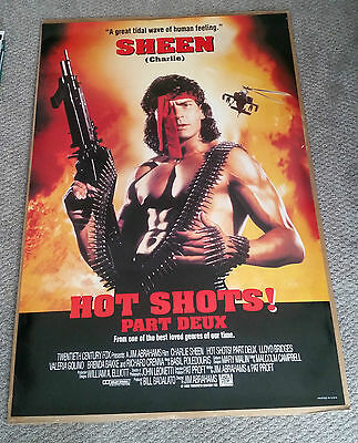 Hot Shots Part Deux (1993) Original One Sheet Movie Poster 27x40 Charlie Sheen