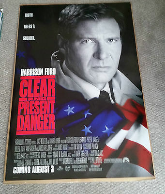 Clear and Present Danger (1994) Original One Sheet Movie Poster 27x40 Tom Clancy