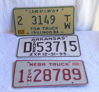 Collectibles License Plates Lot of 3 / Used