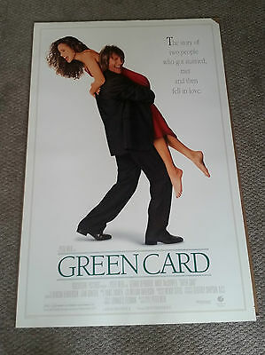 Green Card (1990) Original One Sheet Movie Poster 27x40 Andie MacDowell