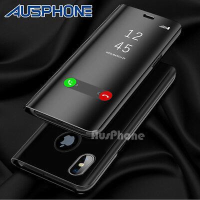For Apple iPhone 11 Pro Max XS XR X 7 8 Plus Luxury Flip Stand Mirror Case Cover