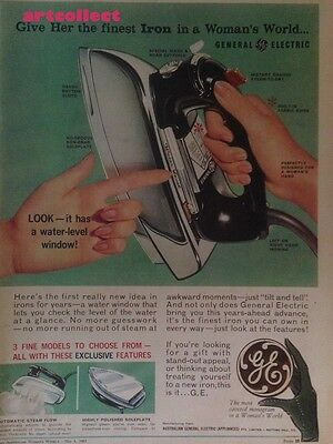 Original Vintage Australian Ad: General Electric Iron. GE. (1963)