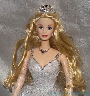 2001 Barbie Special Ed. HOLIDAY CELEBRATION Blonde MACKIE FACE Doll w/Stars Gown