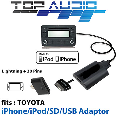 Toyota Car USB SD MP3 AUX iPod iPhone 5 6 6s 7 audio Input Interface Adaptor