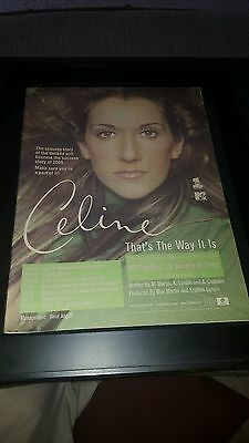 Celine Dion That's The Way It Is Rare Original Radio Promo Poster Ad Framed!