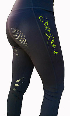 **heels Down Clothing** Riding Performance Tights* Just Ride Print..