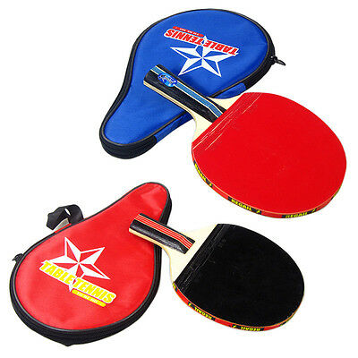 Hot Sport Ping Pong Table Tennis Long Handle Racket Paddle With Waterproof Pouch