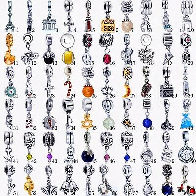 New European Silver Charms Pendant Beads Fit 925 Sterling Silver Bracelets AU2