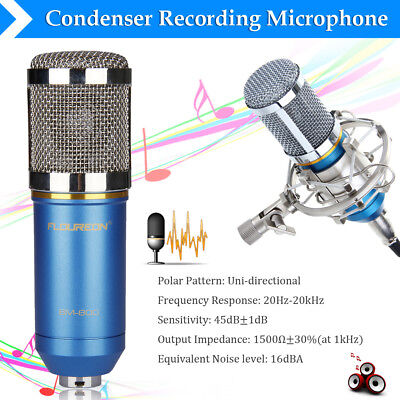 USB Studio Condenser Recording Microphone Vocal Singing Podcast Mic W/ Stand