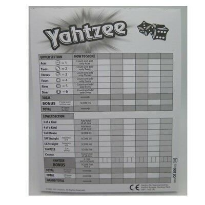 Milton Hasbro Gaming YAHTZEE Score Cards Pad - Pack of 80 Game Cards  90266*