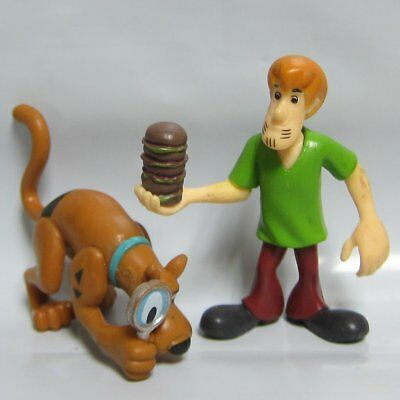 2X Hanna Barbera Scooby- Doo Shaggy & Dog Action Figure Loose Toys 2.5''