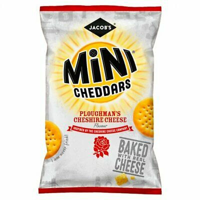Jacobs Mini Cheddars Branston Pickle Snack Biscuits 50g x 30 FULL BOX