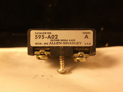 Allen Bradley 595-A02 Series A Auxiliary Contact Relay
