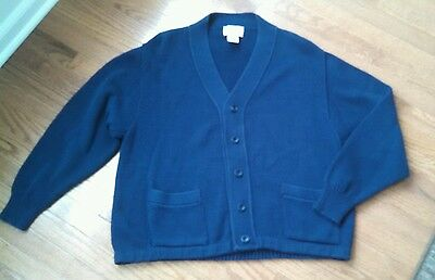 Vintage Men's LL BEAN Grandpa Style Cardigan Sweater Sz L Made in USA Maine