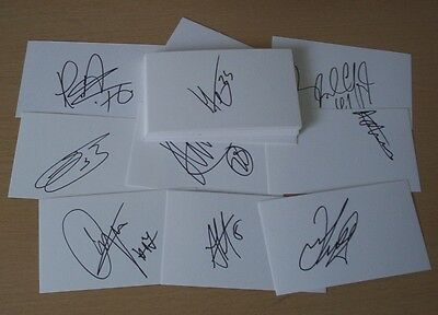 Reading - 37 x Signed White Cards Season 2013/14 - CLEARANCE SALE