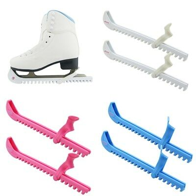 Pair Ice Skate Hockey Figure Walking Blade Hard Guards Protector Cover Free Size