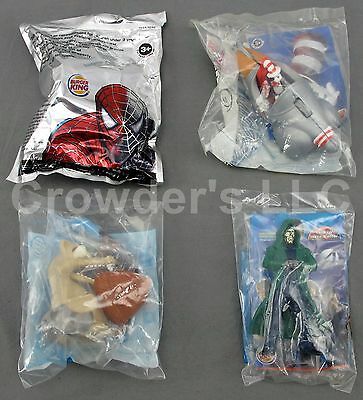 Set of 4 Burger King Toys: Dr Doom, Cat in the Hat, Spiderman, Squirrel Ice Age