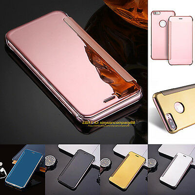 Luxury Ultra-thin Hard Mirror Flip Case Cover For Apple iPhone 7 SE 5 6 6s Plus