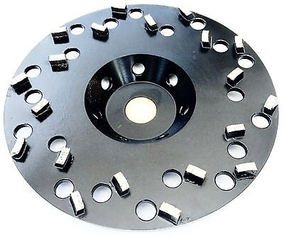 "6"" Grinding Cup Wheel Epoxy Glue Mastic Paint Removal 20 Segments5/8""-7/8"" arbor"