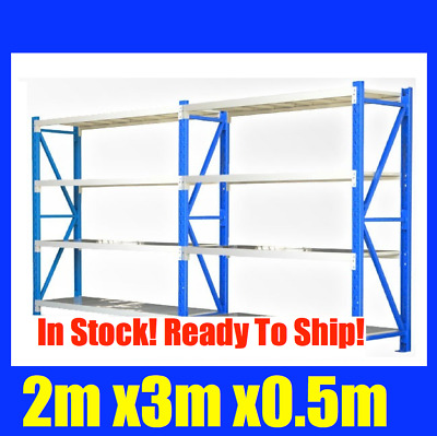 2m X 3m Steel Metal GARAGE STORAGE WAREHOUSE SHELVING RACKING Shelves