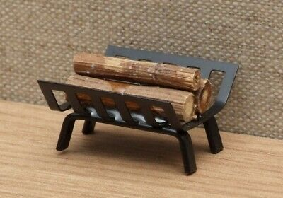 1:12 Dolls House Fire basket with Logs