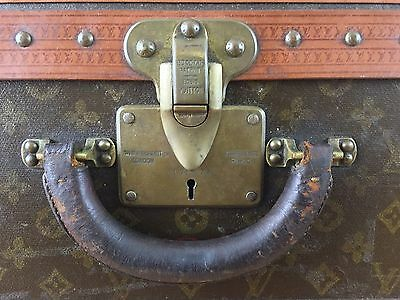Vintage Louis Vuitton Suitcase Alzer 65 Monogrammed 1960's Used Estate Condition