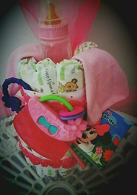 Minnie mouse baby diaper cake great for baby theme showers Baby Shower Gift