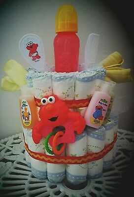 Elmo Love baby diaper cake there is always time for elmo Baby Shower Gift