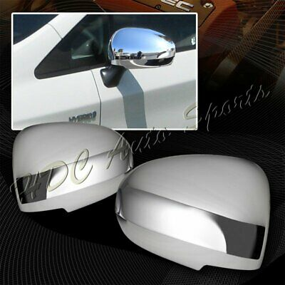 FOR 2009-2015 NISSAN MAXIMA CHROME REAR SIDE MIRROR COVERS COVER W// SIGNAL CUT