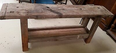 Antique French Wood Carpenter Bench  L 79''x  W 15''x H 32'' 1800's
