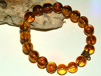 10mm CITRINE GEMSTONE BEADED STRETCH CHARM BRACELETS IN MIXED SIZES & CHARMS