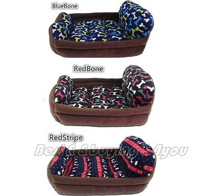 Luxury Comfortable Pet Cat Dog Kitten Puppy Bed House Cushion Sofa Couch Mat TP